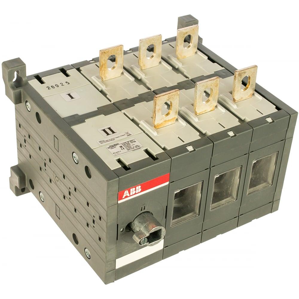 Выключатель-разъединитель abb ot315e03c реверс 3p 315a, без ручки и переходника 1sca022764r2090