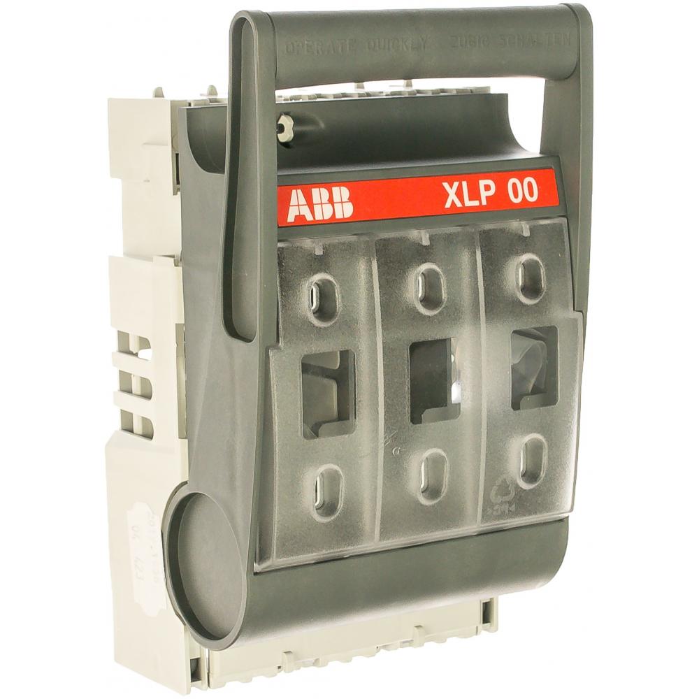 Выключатель-разъеденитель abb xlp-00-6bc 160a, с предохранителями на монтажную плату 1sep101890r0002