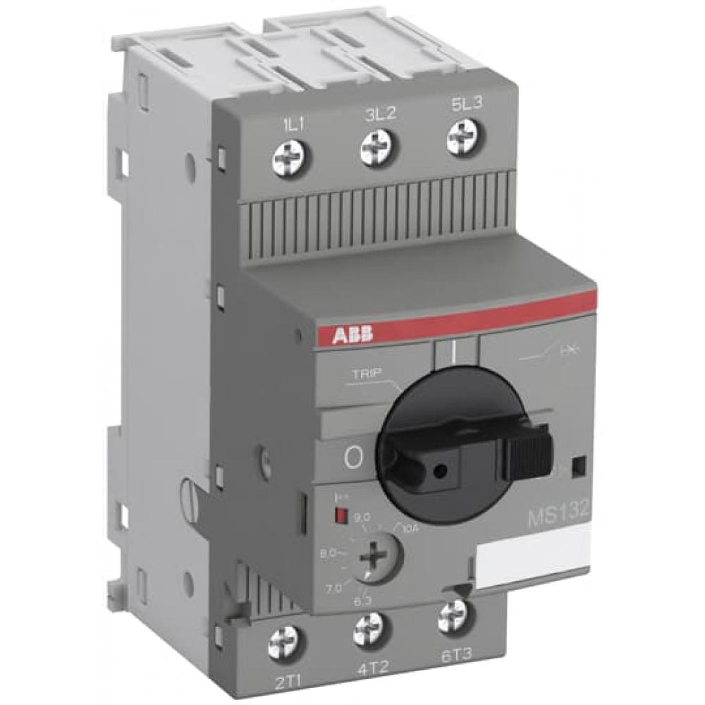 Купить Автоматический выключатель с регулируемой тепловой защитой abb ms132-10 100ка 6.3a-10а 1sam350000r1010