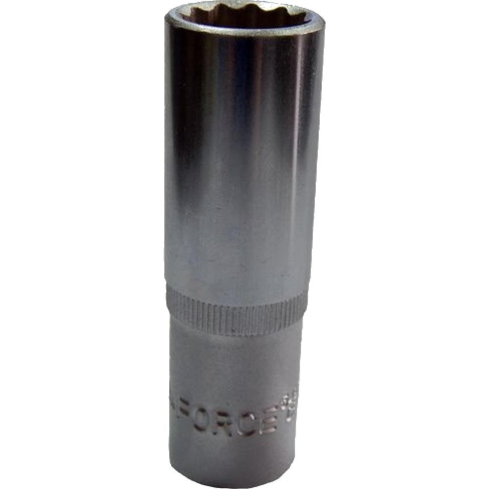 Купить Головка торцевая 12-гранная глубокая (12 мм; l=50 мм; 1/4dr) rockforce rf-529501250