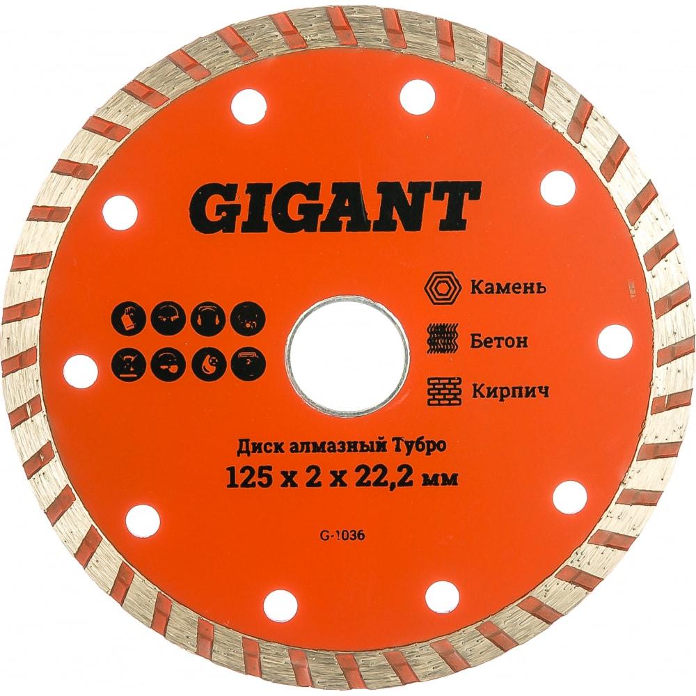 Купить Диск алмазный турбо (125x2x22.2 мм) gigant g-1036