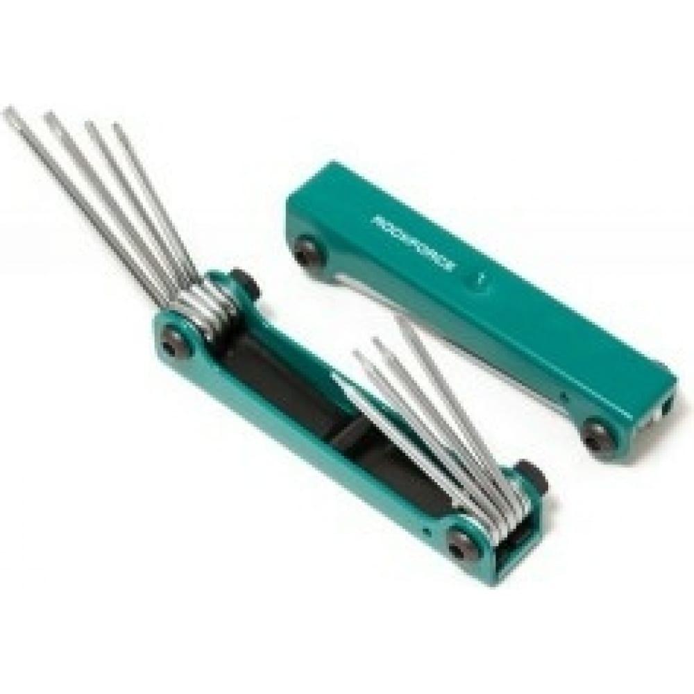 Купить Набор ключей torx складной 8 предметов t5h-t10h, t15h, t20h c отверстием rockforce rf-5087tf