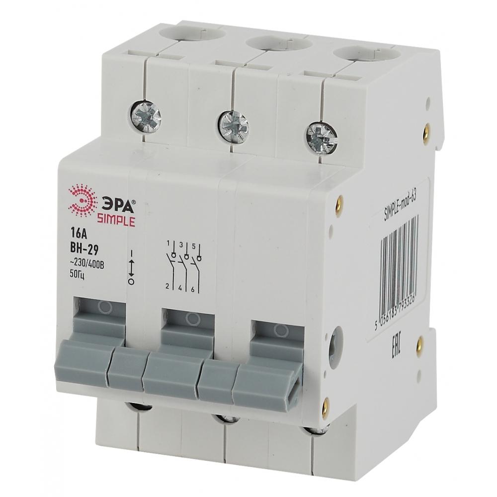 Выключатель нагрузки эра simple вн-29 3p 25а б0039254