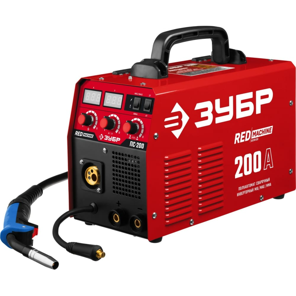 Инверторный сварочный полуавтомат зубр 200 а пс-200.