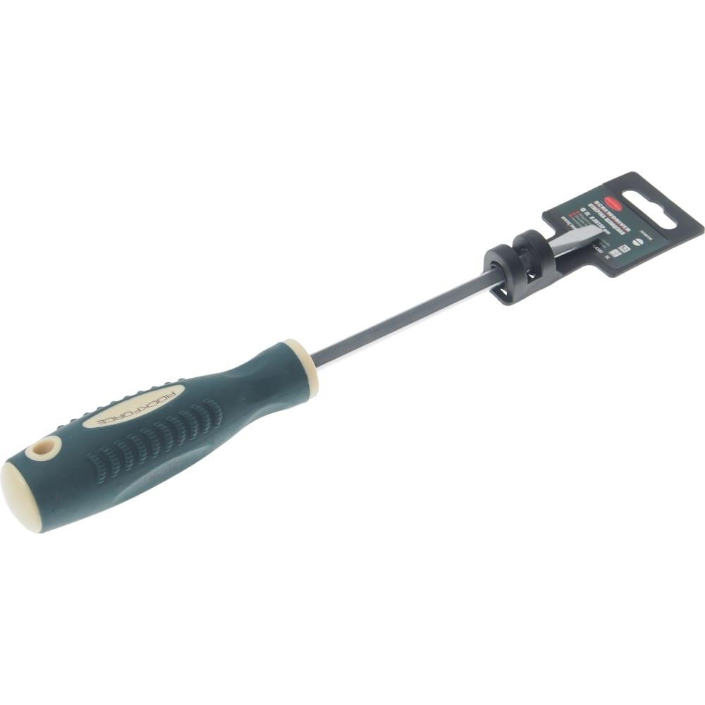 Купить Шлицевая магнитная отвертка rockforce profi s2 sl8.0х150мм на пластиковом держателе rf-70180150