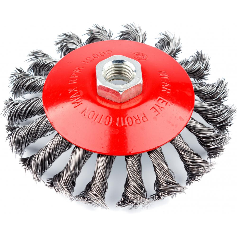 Кордщетка радиальная витая с наклоном (115 мм; м14) для мшу redverg 6623619