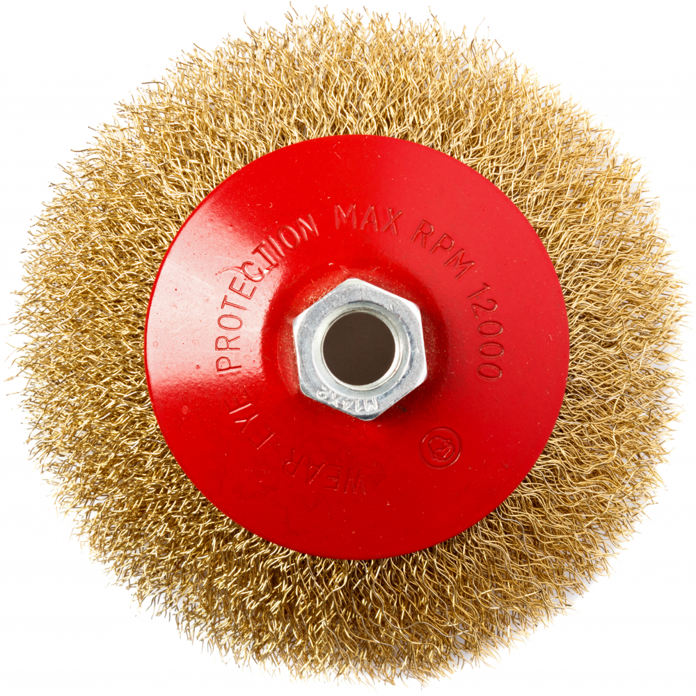 Кордщетка радиальная мягкая (125 мм; м14) для мшу redverg 6623618