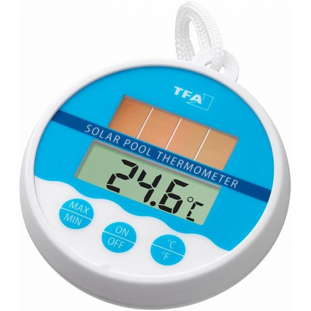 Цифровой термометр для бассейна с солнечной батареей tfa 30.1041
