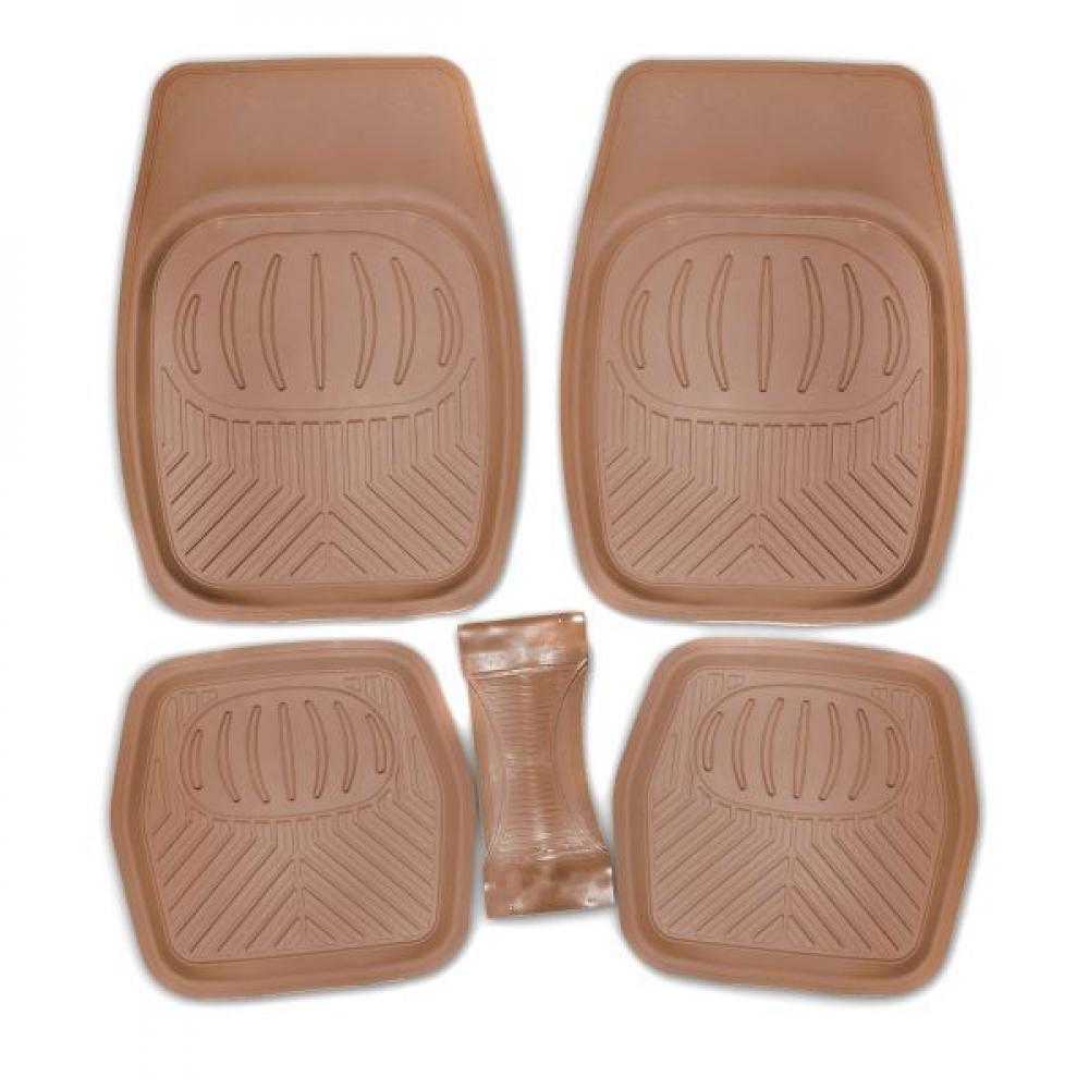 Купить Коврик для салона skyway rain-2 5пр. ванночка, полиуретановый, бежевый s01702046