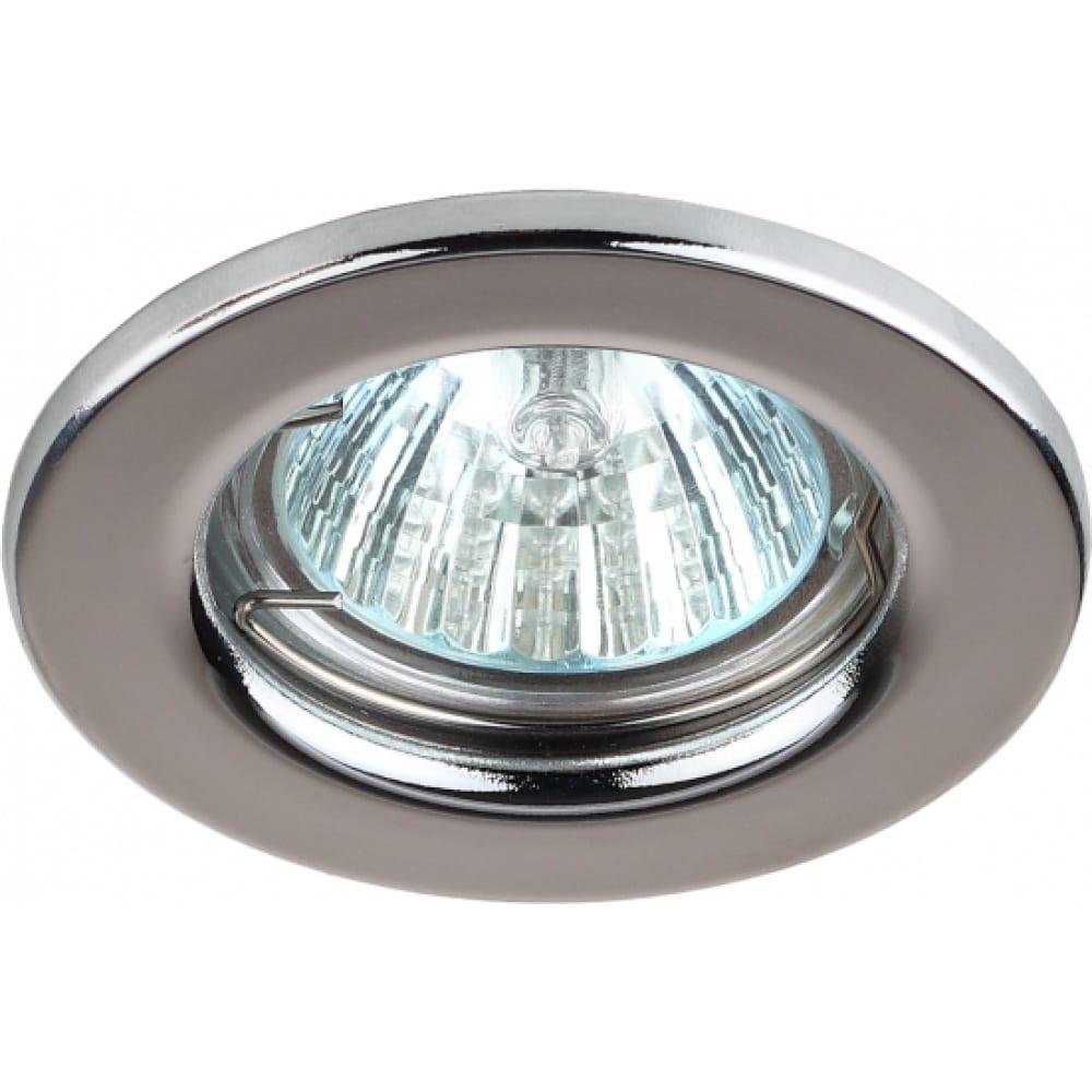 Купить Штампованный светильник эра st1 ch mr16, 12v/220v, 50w хром c0043799