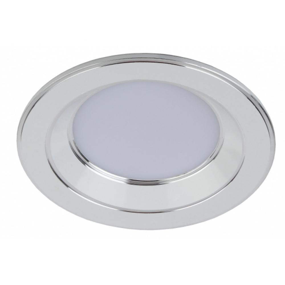 Купить Светильник эра kl led 15-5 wh/ch светодиод кругл серебр окантовка 5w 4000k, белый/серебро б0028281