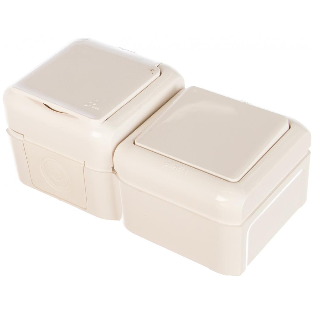 Купить Выключатель+розетка legrand 2к+з шторки ip44 белый 782318