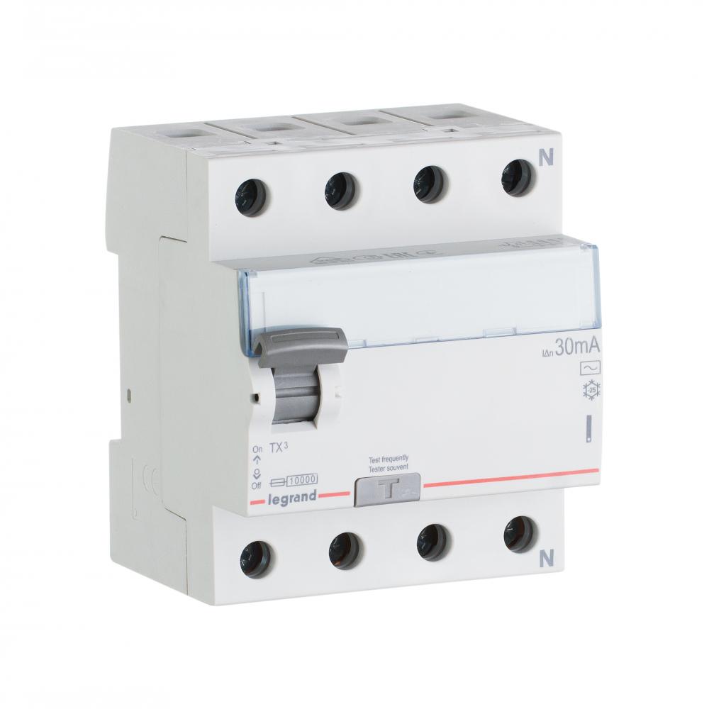 Выключатель дифференциального тока legrand tx3 4п 25a 30ma-ac 403008
