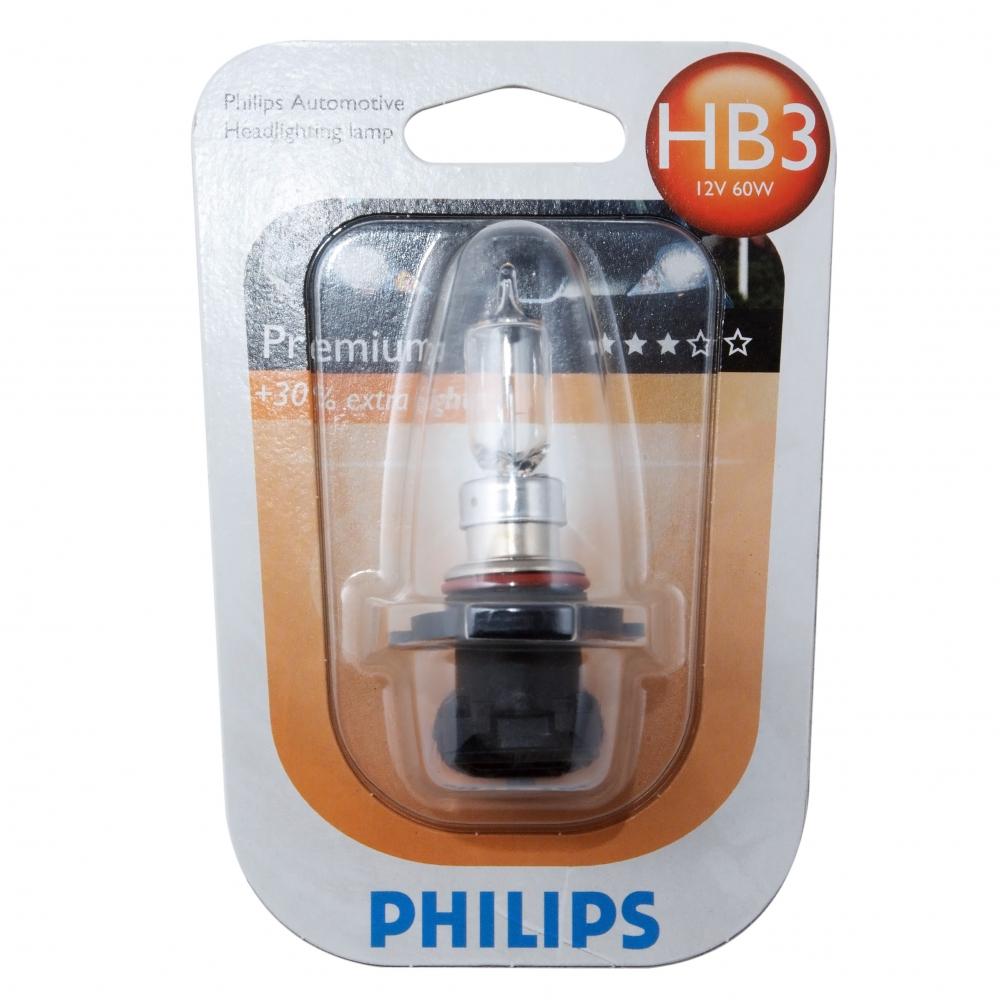 Автолампа philips hb3, 9005 60 p20d+30%