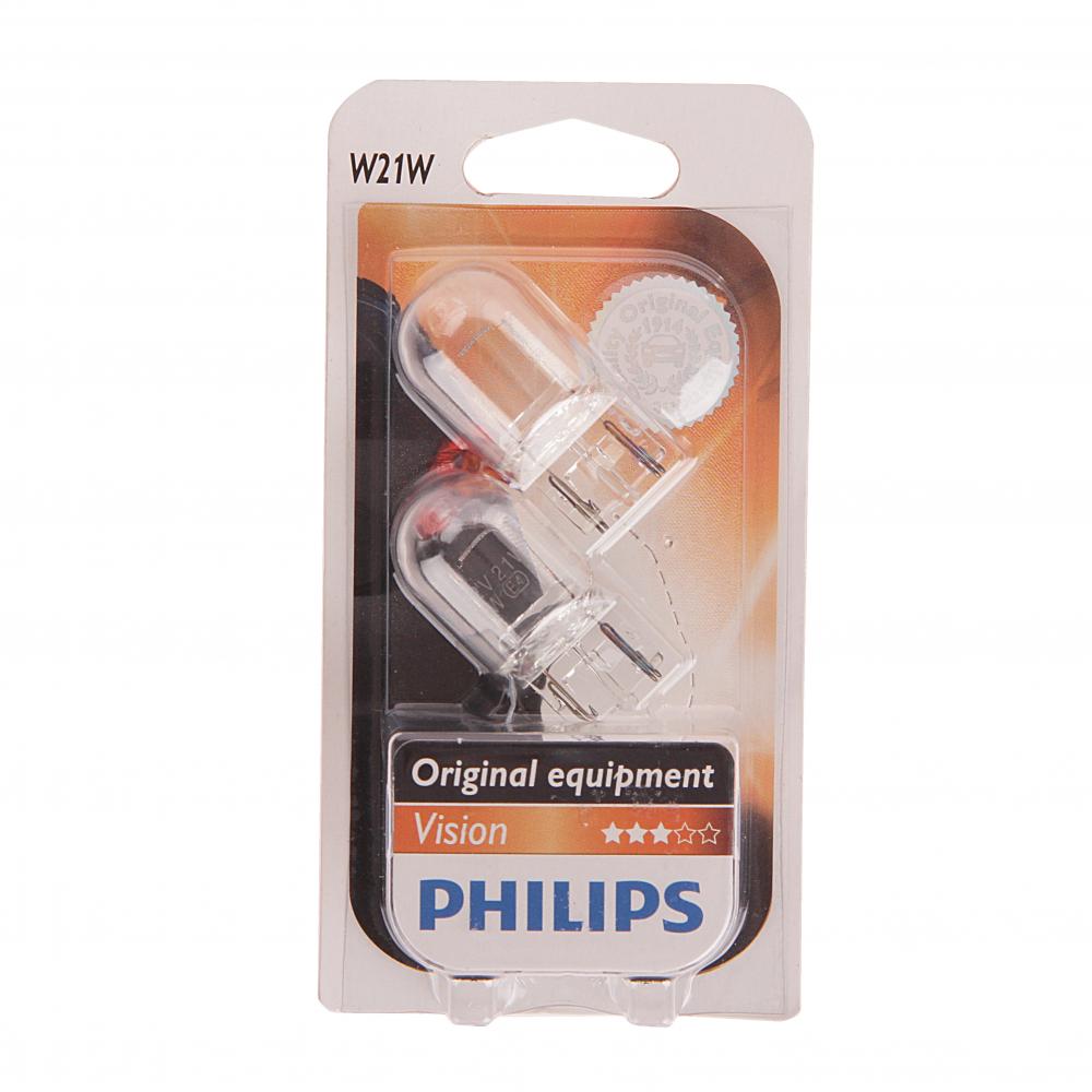 Автолампа philips w21w w3 16d 2
