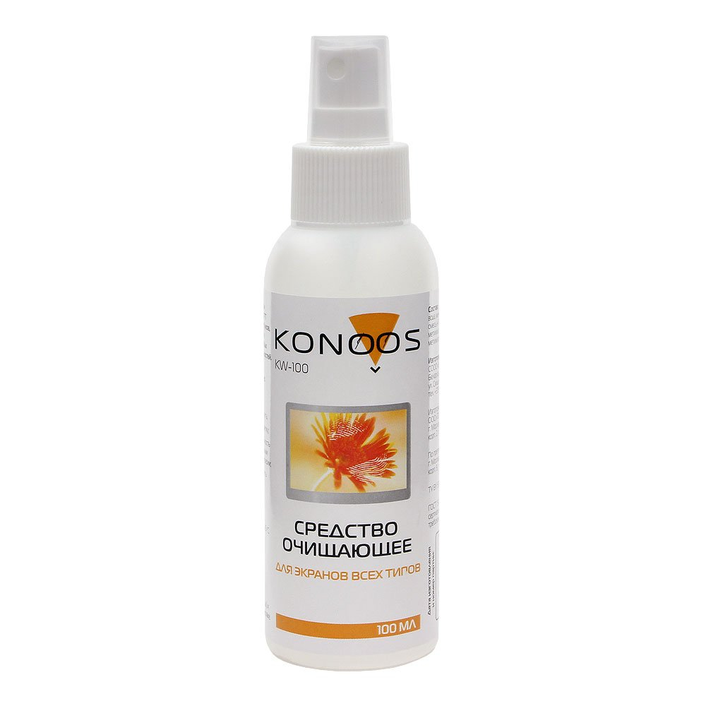 Очищающее средство для экранов konoos kw-100