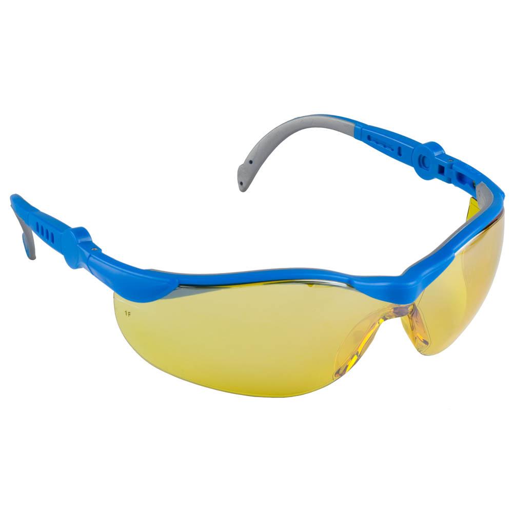 Открытые защитные очки зубр прогресс 9, желтые 110311_z01  - купить со скидкой