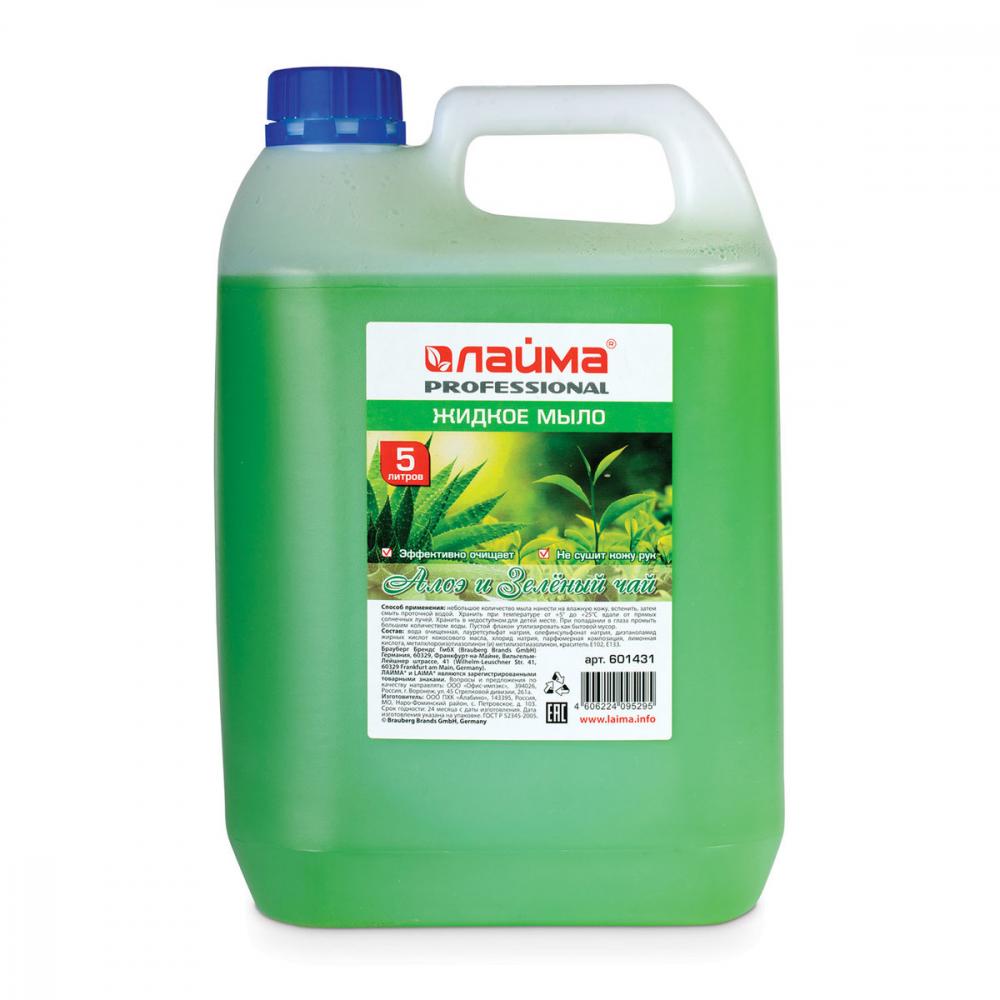 Купить Жидкое мыло лайма professional алоэ и зеленый чай, 5 л 601431
