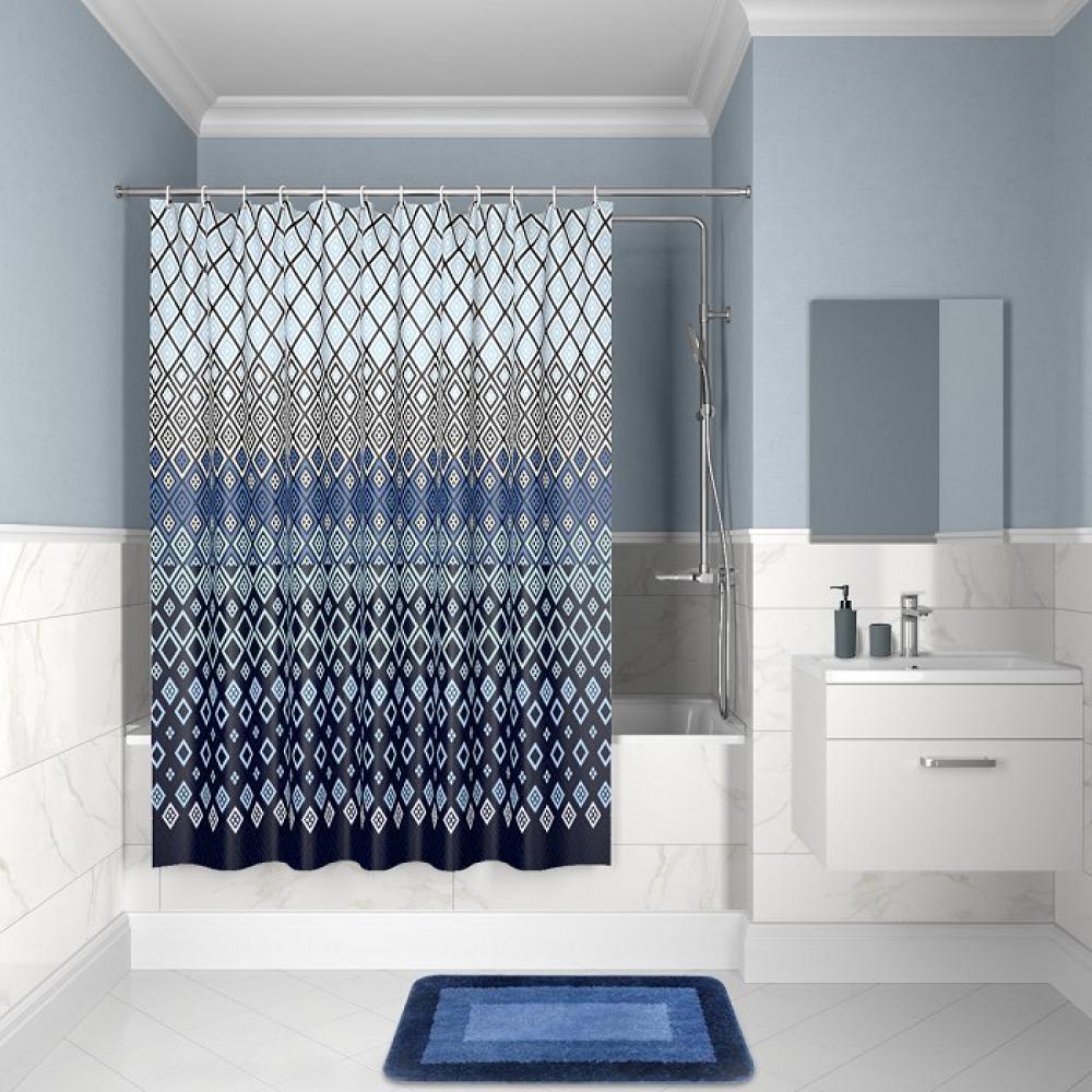 Штора для ванной комнаты iddis 200*180см, полиэстер,