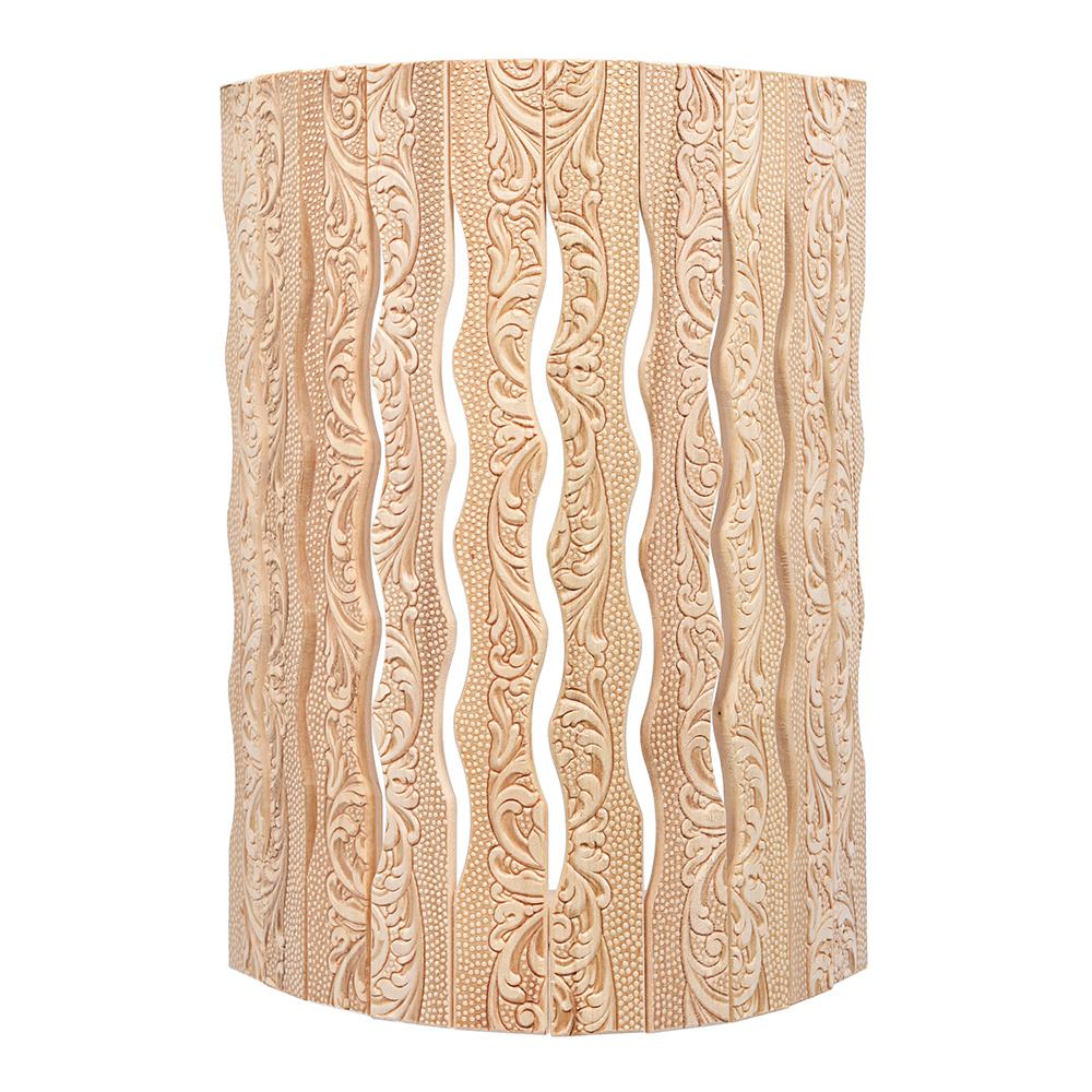 Купить Угловой абажур для светильника банные штучки липа, с орнаментом цветы, 31х9х22 см 33420