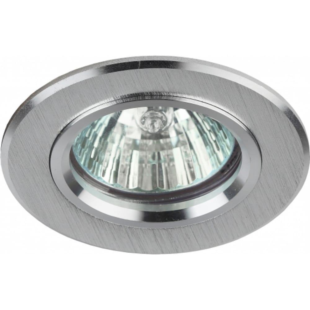 Купить Светильник эра kl58 sl литой алюминевый mr16, 12v/220v, 50w серебро б0017256