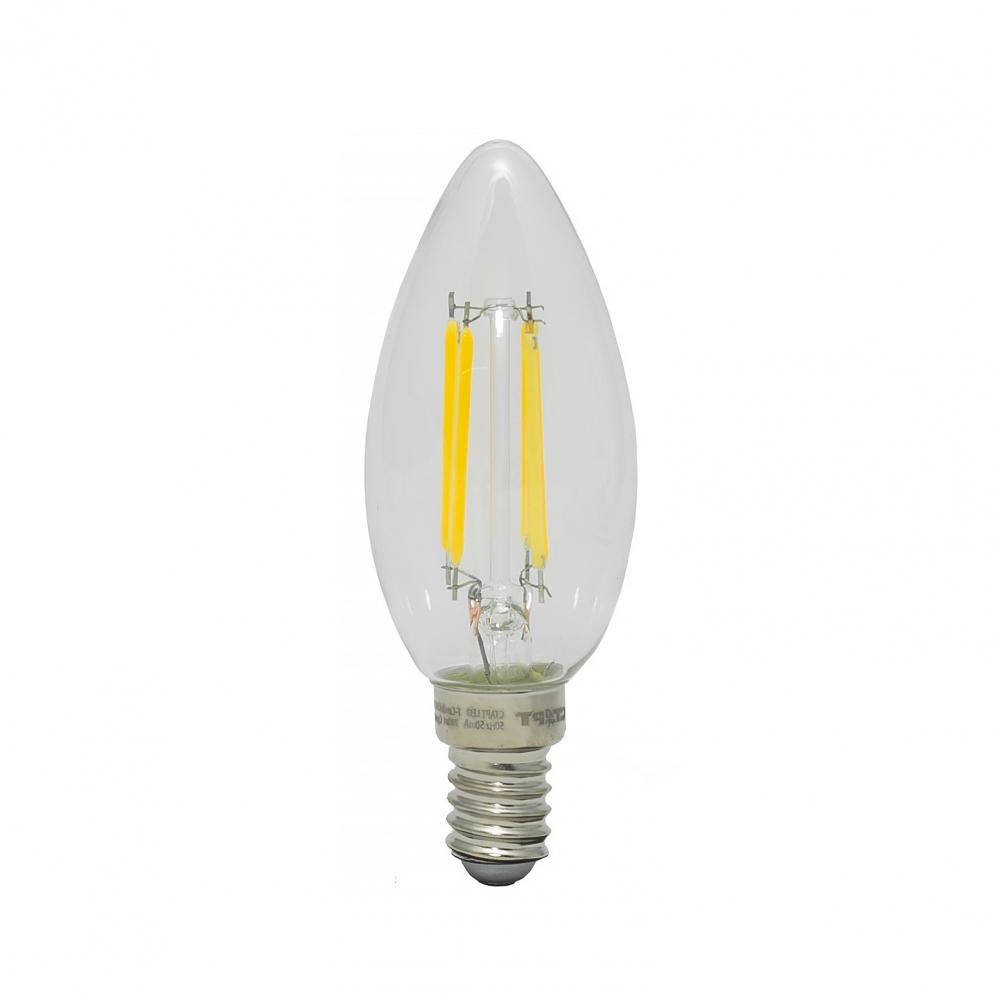 Купить Светодиодная филаментная лампа старт в колбе свеча led f-candlee14 7w40