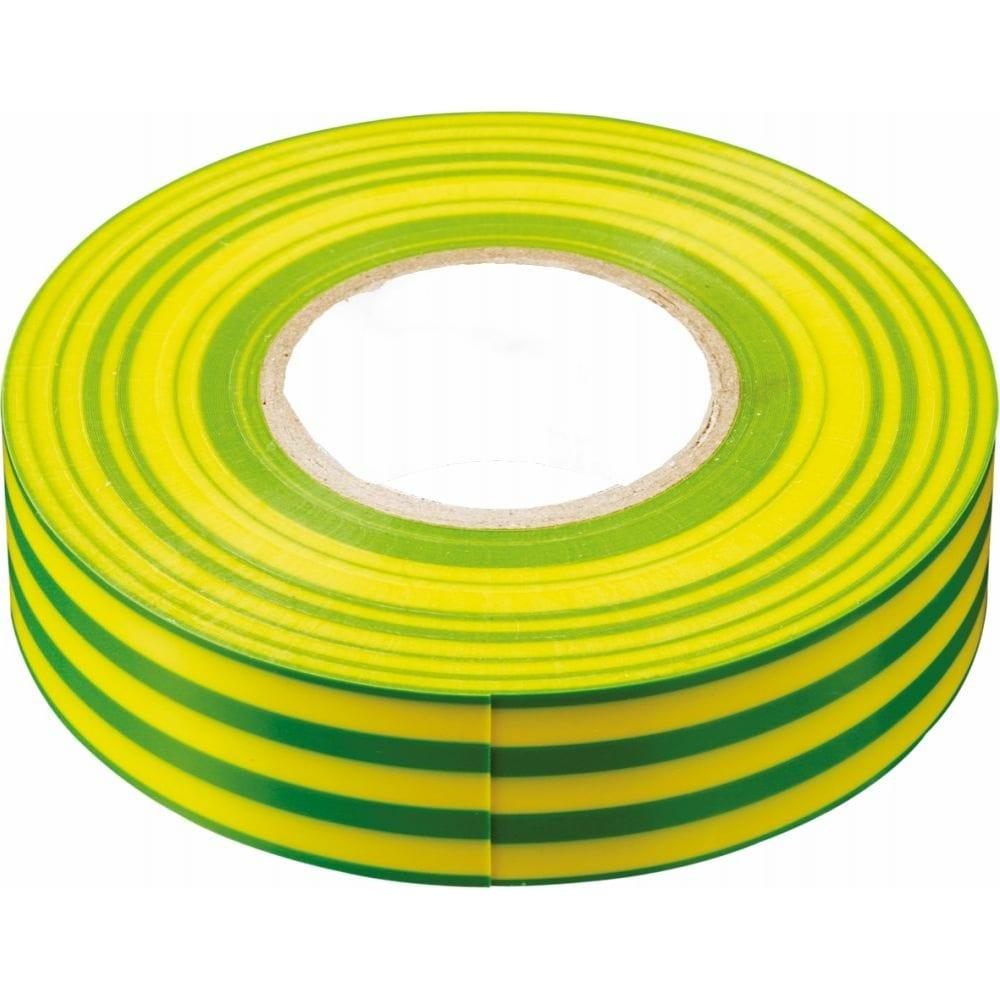 Купить Изоляционная лента stekker 0, 13x19 мм, 20 м, желто-зеленая, intp01319-20 32842