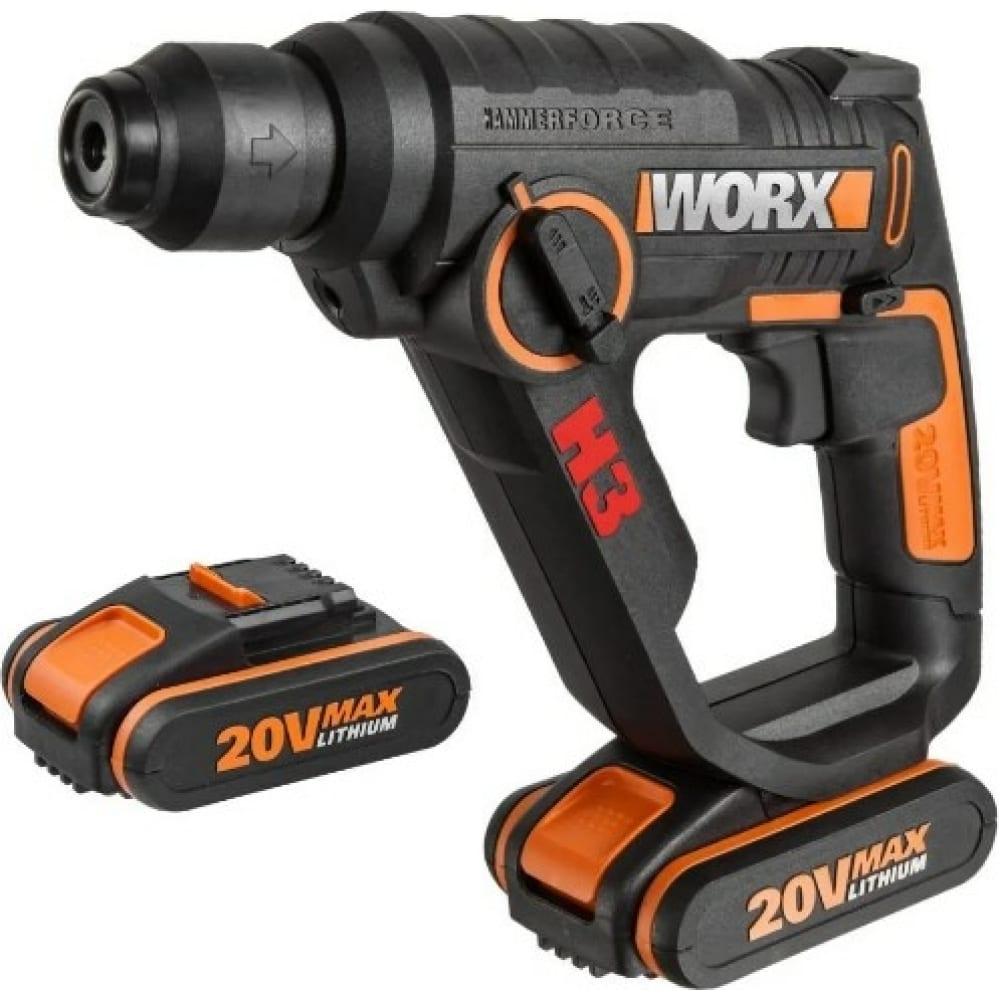 Аккумуляторный перфоратор worx wx390.1