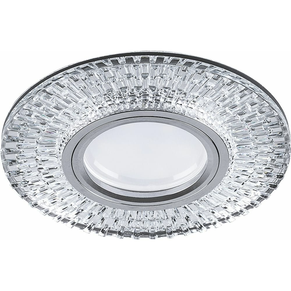 Купить Встраиваемый потолочный светильник feron 15ledx2835 smd 4000k, mr16 50w g5.3, прозрачный, хром, cd943 32991