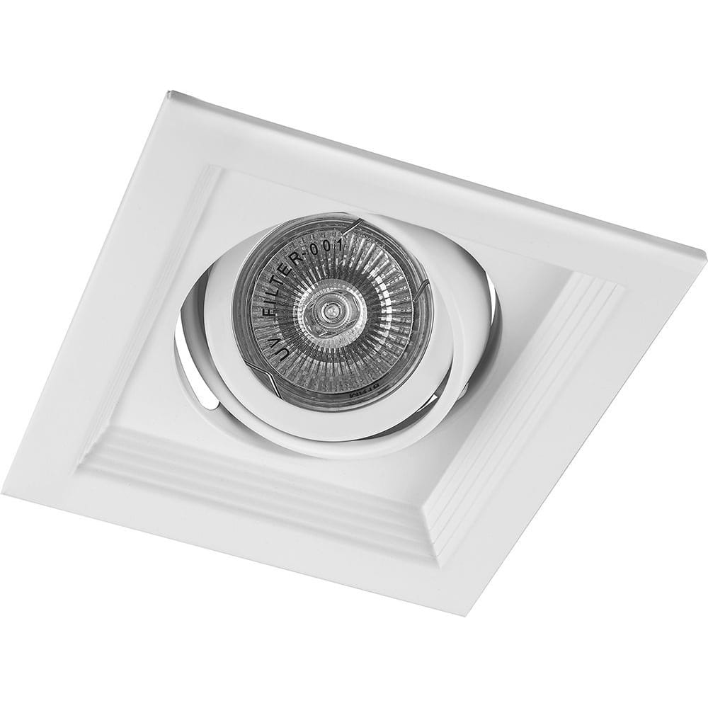 Купить Встраиваемый потолочный светильник feron mr16 g5.3 хром, dlt201 41044