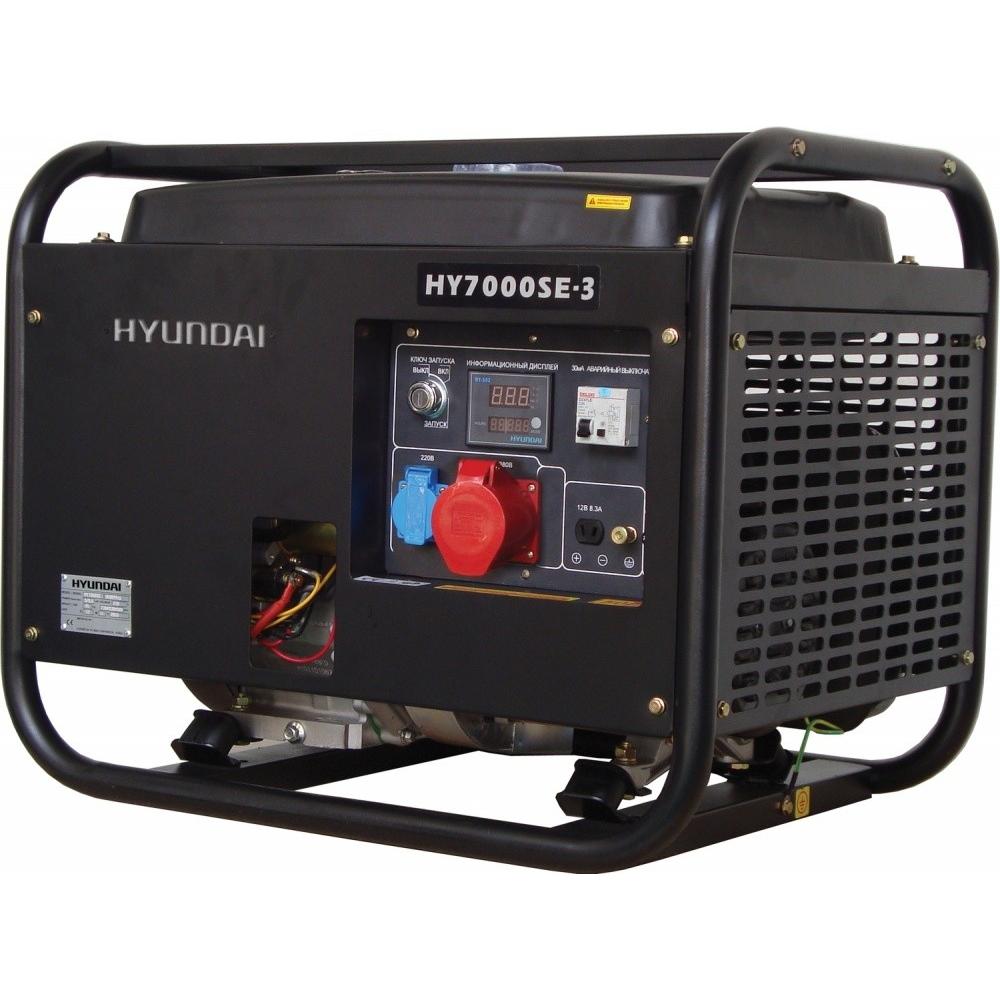 Бензиновый генератор hyundai hy7000se-3
