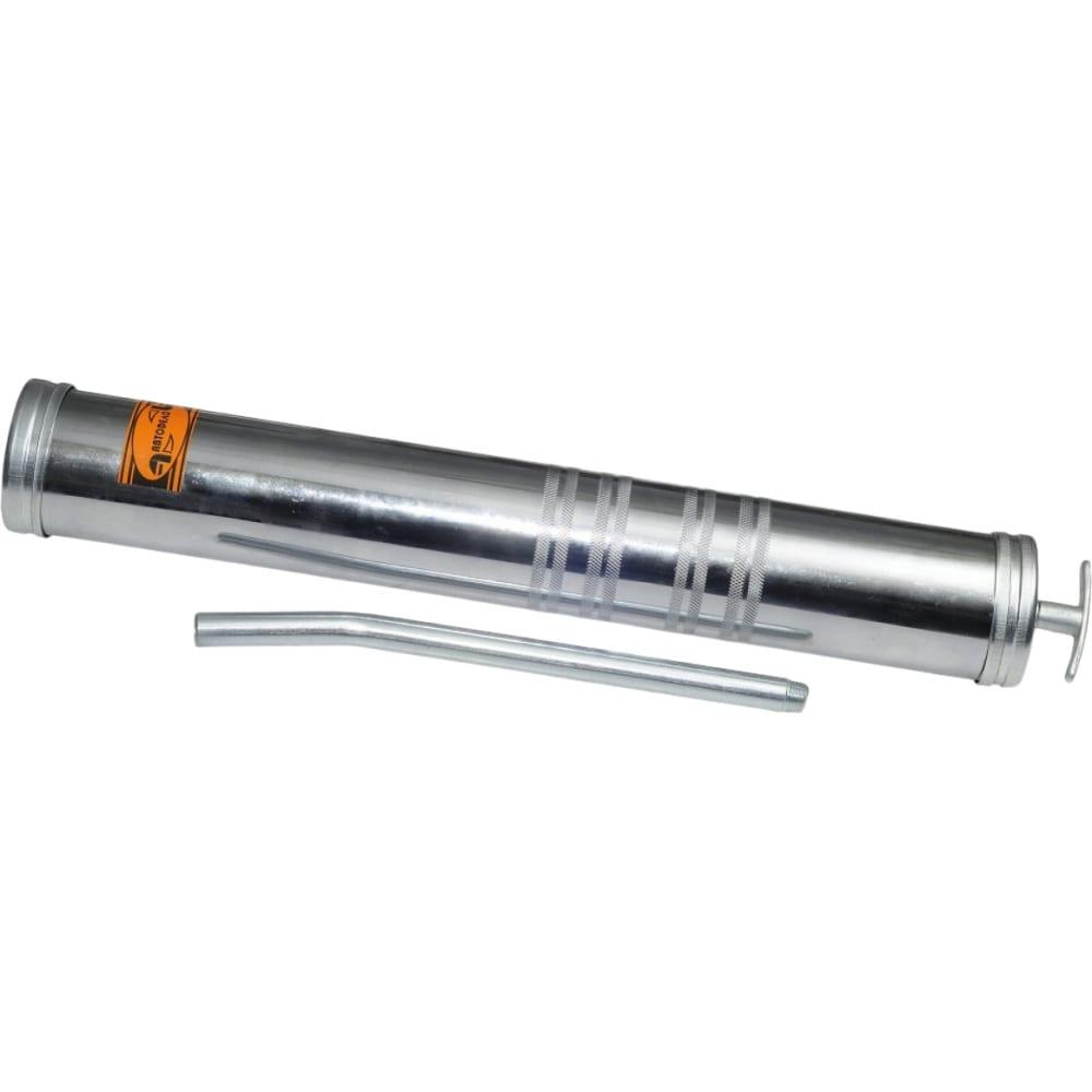 Маслозаливной шприц автоdело металлическая трубка+шланг 1000 мл 42026 10465
