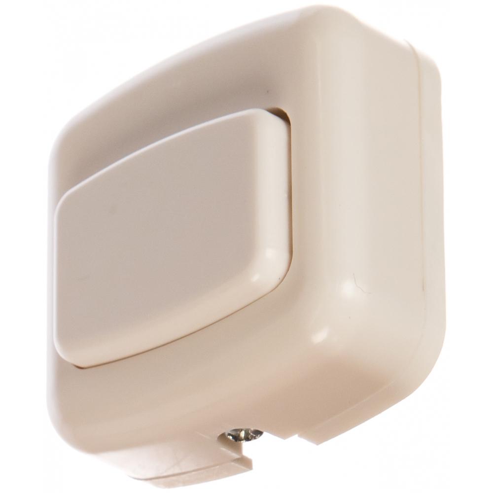 Кнопка для звонка светозар цвет белый, 220в 58301