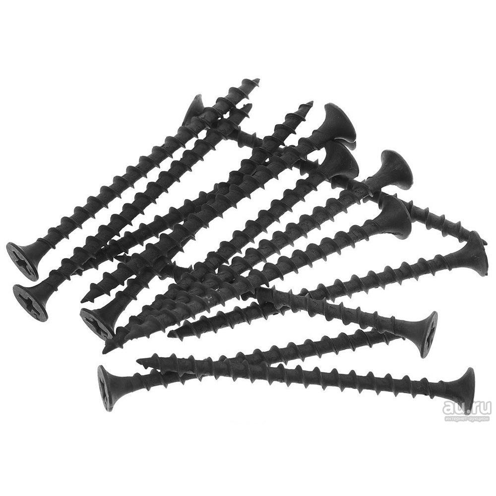 Купить Саморез качественный крепеж 3, 5х55 потай, крупная резьба, оксид 1 кг 1000813 кч