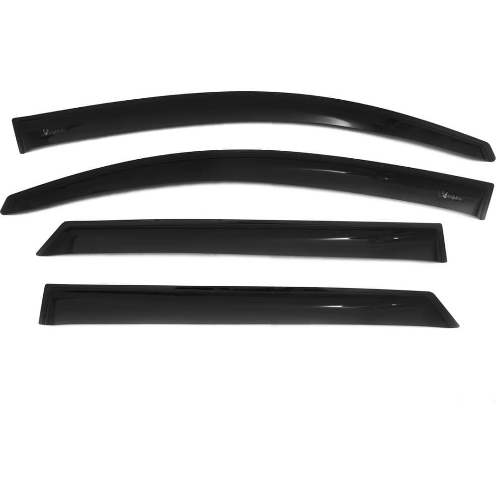 Купить Дефлекторы окон vinguru hyundai tucson iii 2015-, накладные, скотч, к-т 4 шт. afv85615