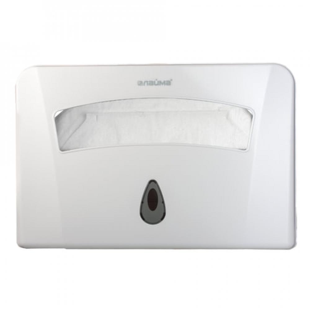 Диспенсер для покрытий на унитаз лайма professional, 1/2 сложения, белый, abs-пластик, 601429  - купить со скидкой