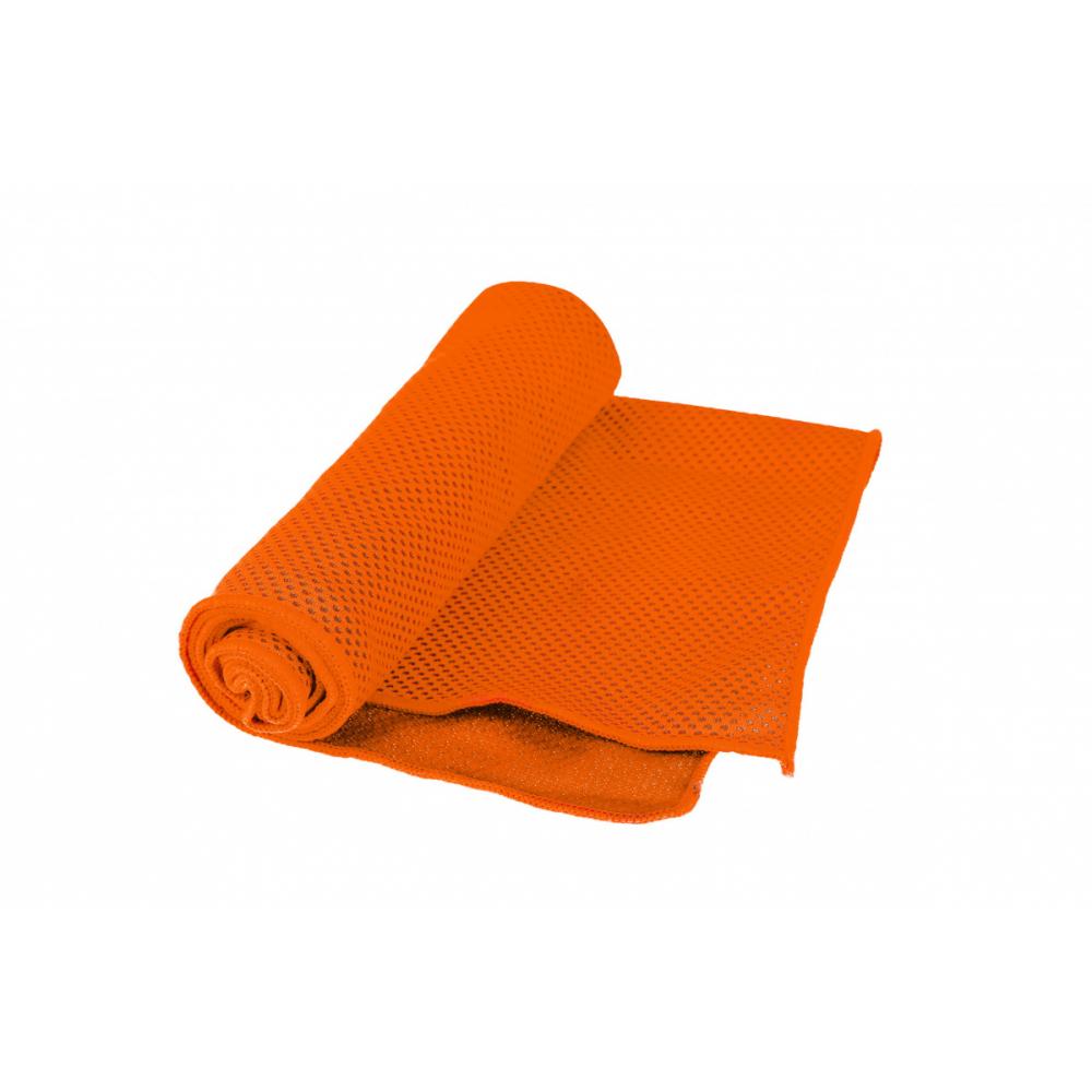 Охлаждающее полотенце в бутылке bradex оранжевое