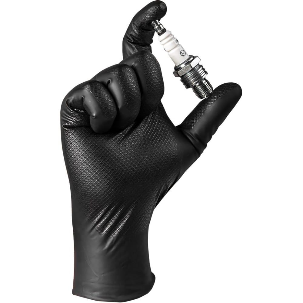 Нескользящие одноразовые перчатки jeta safety jsn natrix jsn 50 natrix bl 08  - купить со скидкой