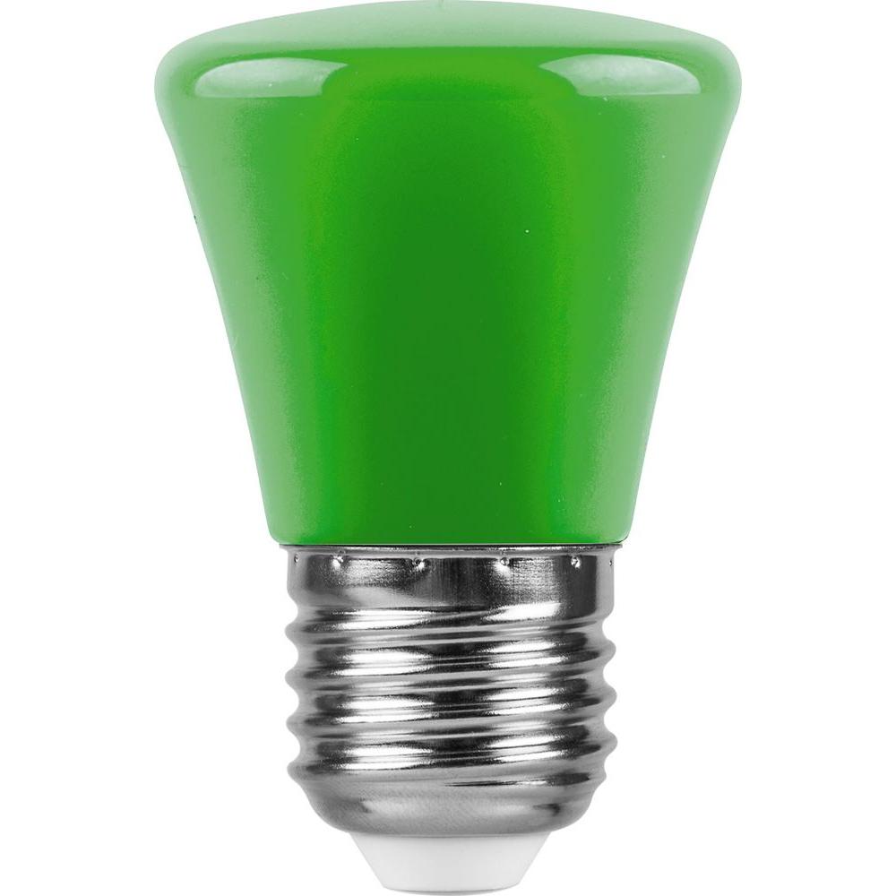 Купить Светодиодная лампа feron 1w 230v e27 зеленый, lb-372 25912
