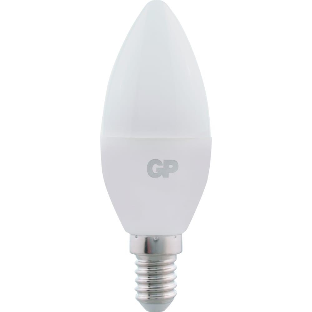 Купить Светодиодная лампа в колбе свеча gp ledc37-7we14-40k-2crb1