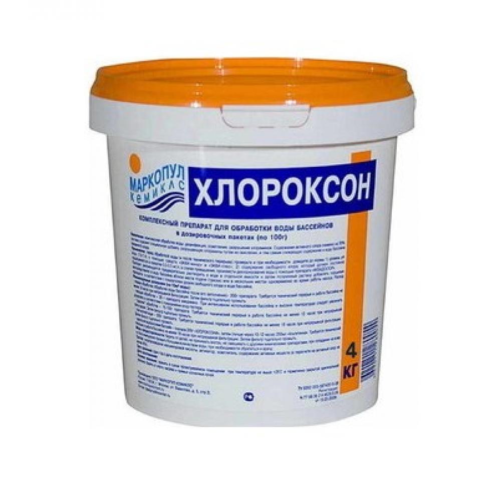 Купить Комплексный уход для обработки воды хлороксон маркопул кемиклс, 4 кг ведро, гранулы для дезинфекции м46