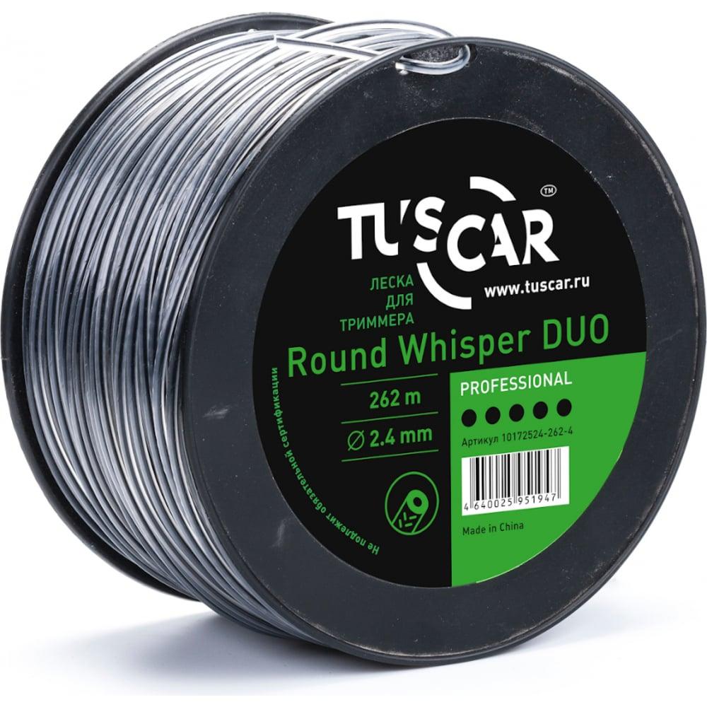 Купить Леска для триммера round whisper duo, professional, 2.4 мм, 262 м tuscar 10172524-262-4