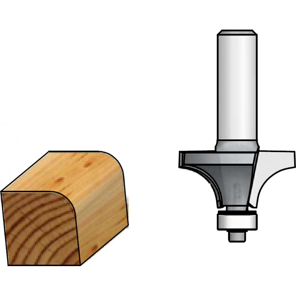 Фреза радиусная r6.3 (22х13 мм; подшипник; хвостовик