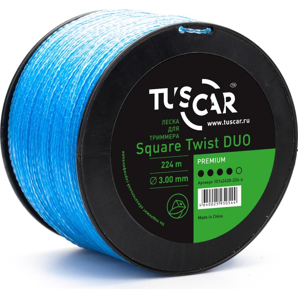 Купить Леска для триммера square twist duo, premium, 3.0 мм, 224 м tuscar 10142430-224-4