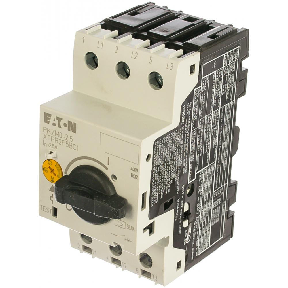 Автоматический выключатель защиты двигателя eaton pkzm01-2.5 278481