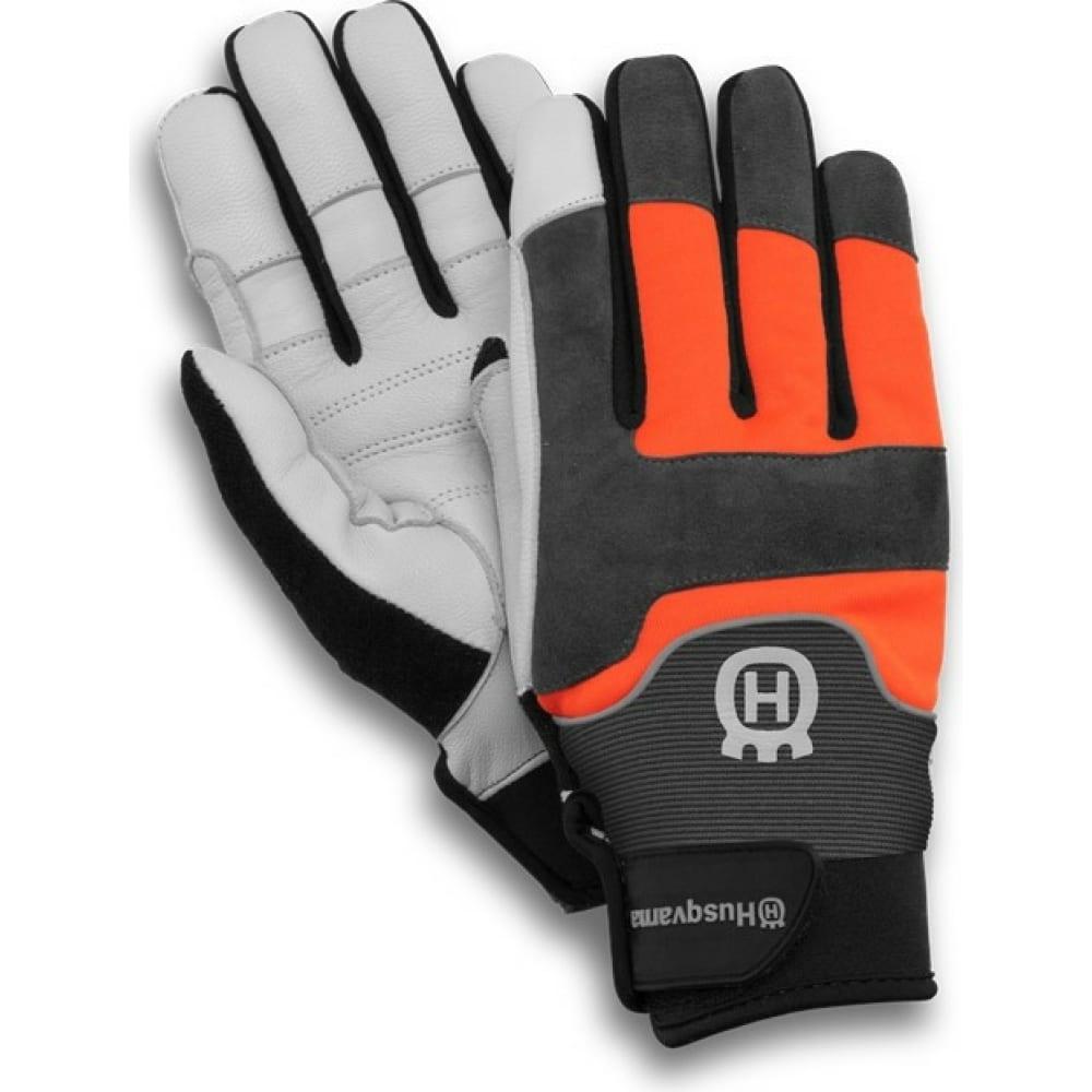 Перчатки husqvarna technical c защитой от порезов бензопилой р.08 5950034-08  - купить со скидкой