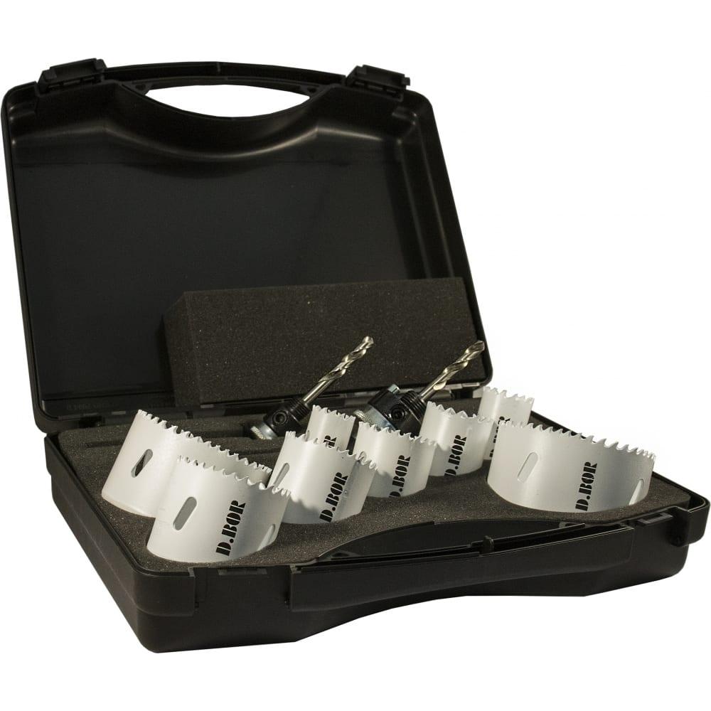 Купить Набор биметаллических коронок (10 пр, 22-76 мм, м3) для электрика d.bor 19h-4010624d