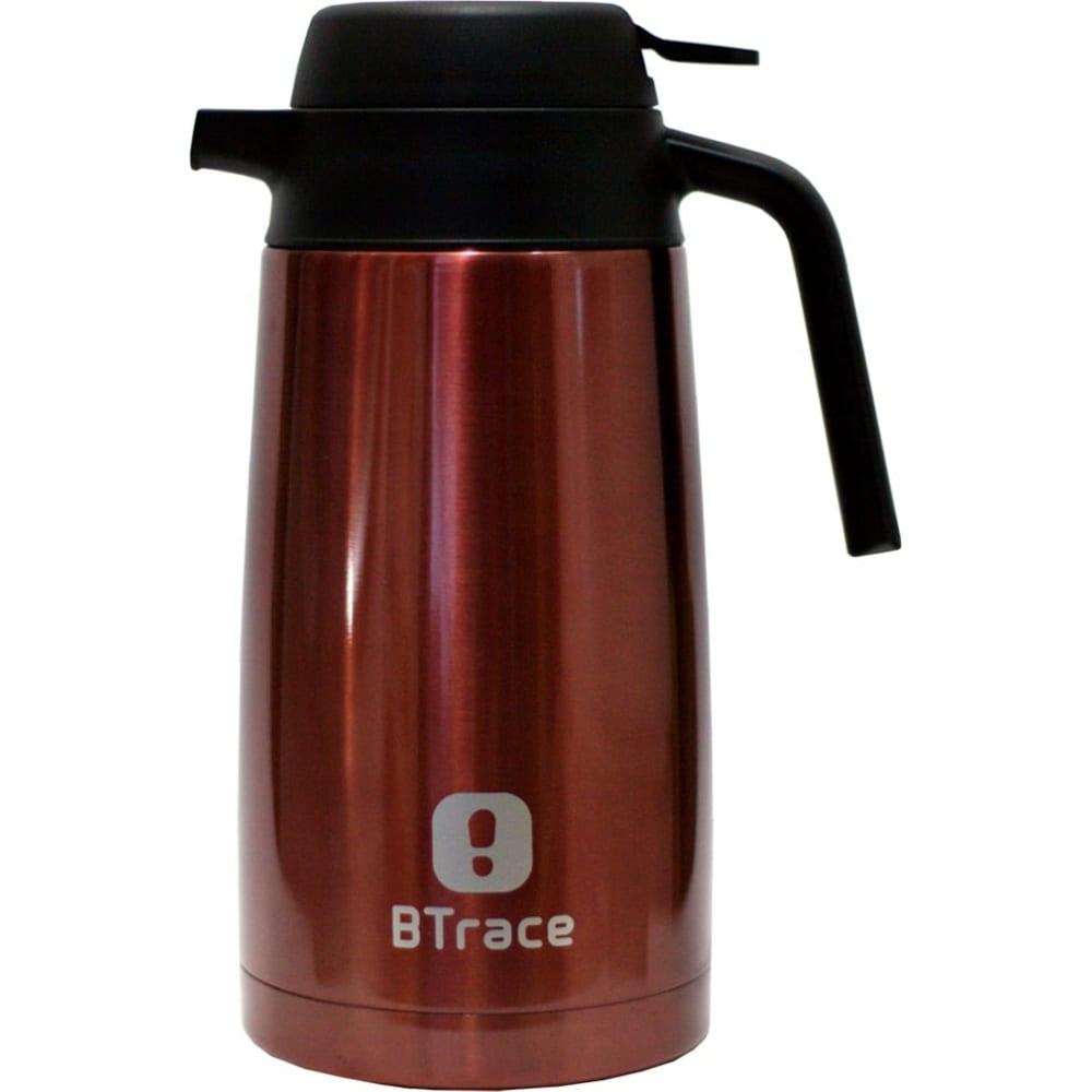 Термос кофейник btrace вишневый, 1600 мл