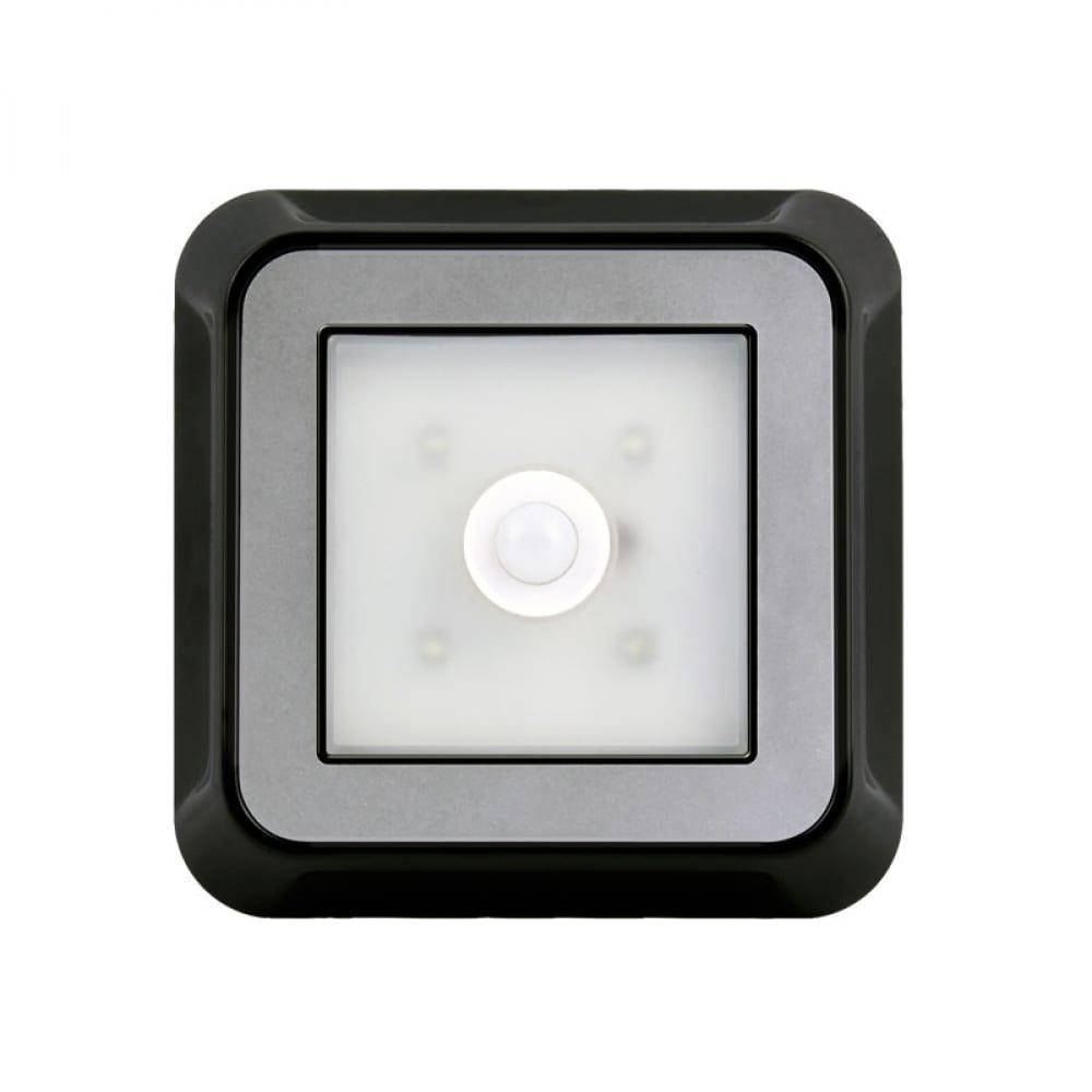 Купить Светодиодный фонарь smartbuy с датчиком движения и света 4 led 4aaa, черный sbf-4-k
