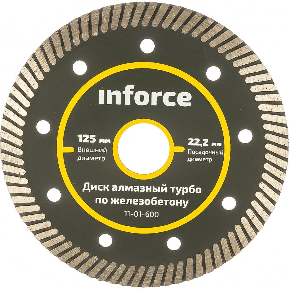 Диск алмазный турбо по железобетону (125х22.2 мм) inforce 11-01-600